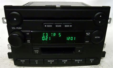 ford   truck    factory stereo amfm tape cd player radio ltcfc