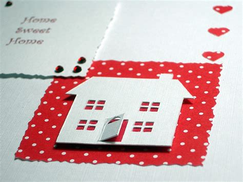 Handmade New Home Cards - new home handmade card