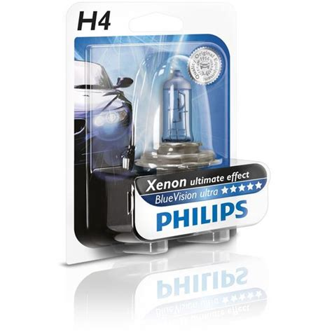Lu Philips Blue Vision H4 oule philips blue vision ultra h4 feu vert