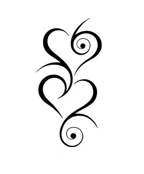 multiple heart tattoo designs tribal tattoos on designs