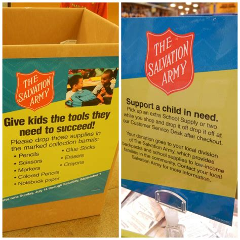 Salvation Army School Supply Giveaway - fred meyer back to school shopping tips 2 50 gift card giveaway