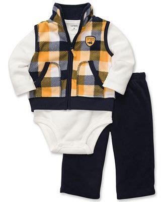 Set Baby Vest Gucci s baby set baby boys 3 plaid vest bodysuit