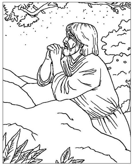 coloring pages jesus in gethsemane jezus in gethsemane pasen kleurplaten pinterest