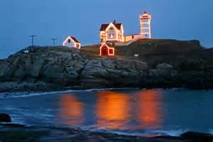 Cape Neddick Light Nubble Lighthouse Cape Neddick Point Lighthouse York Maine