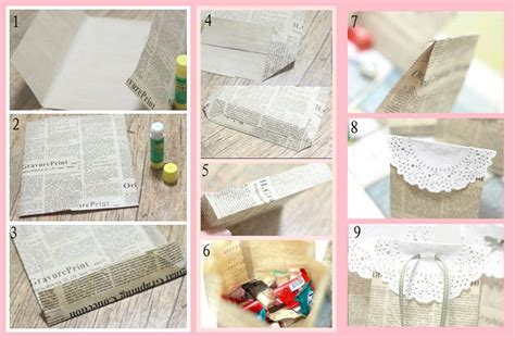 How To Make A Small Paper Gift Bag - 19 diy newspaper bags guide patterns
