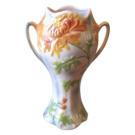 Chrysanthemum Vase by Vintage Faience Chrysanthemum Urn Vase From St Clement From Whimsicalvintage On Ruby