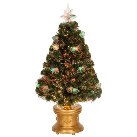 3 ft fiber optic xmas tree national tree company 3 ft fiber optic bell artificial tree szfx7 165l 36