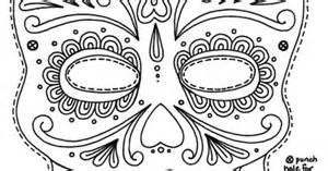 Day Of The Dead Mask Template by Day Of The Dead Mask Printable Coloring Pages Free
