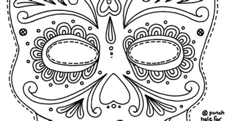 printable masks for day of the dead day of the dead mask printable coloring pages free
