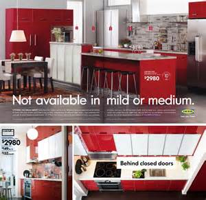 Ikea Red Kitchen Cabinets bold red is not the typically color people would choose when they