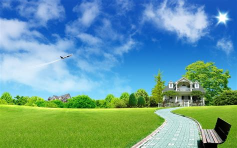 wallpaper for house airplane flying over mansion wallpaper 3949