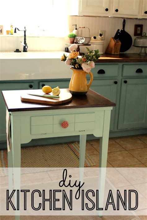 diy kitchen island table diy kitchen island