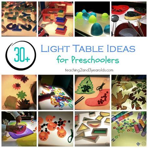 box ideas for preschoolers light table activities color activities activities