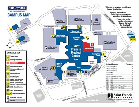 tripler army center information desk hospital map driving directions francis