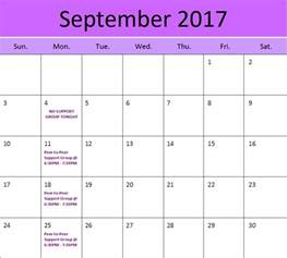 september 2017 events printable monthly calendar