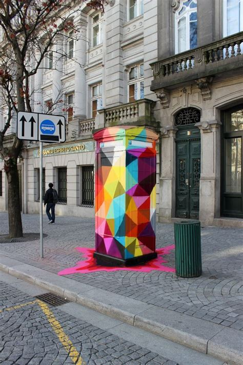 colorful geometric street art street art street art