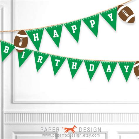 printable soccer banner football birthday banner printable football birthday