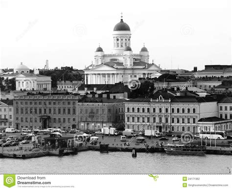 helsinki harbor black and white editorial photography