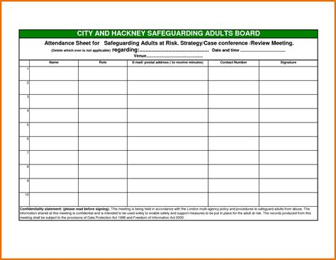 new attendance sheet samples excuse letter