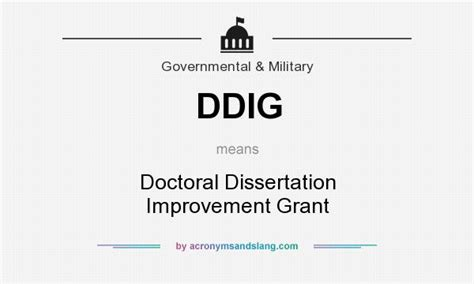 nsf dissertation improvement grant ddig doctoral dissertation improvement grant in