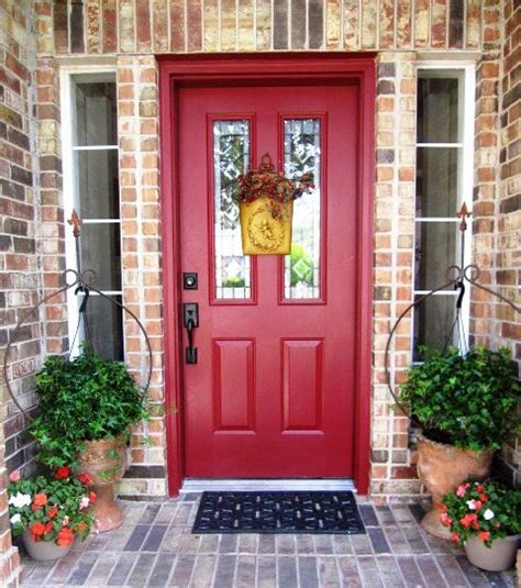 brick house with red door red front door to brick house house pinterest