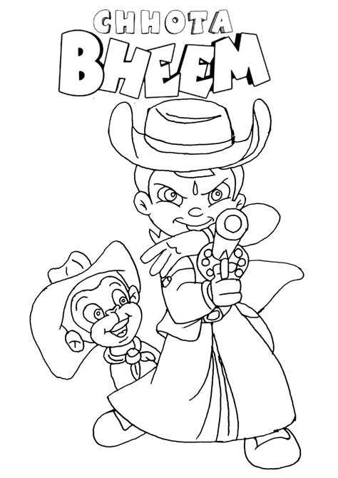 chota bheem free coloring pages