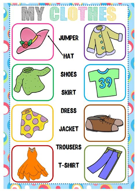 clothes matching worksheets clothes matching interactive worksheet