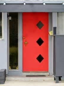 mid century modern front doors interior design