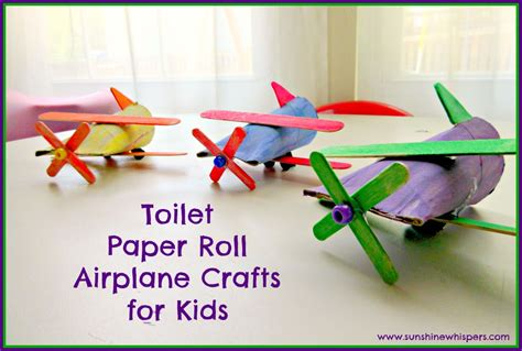 Toilet Paper Crafts For Preschoolers - toilet paper roll airplane crafts for