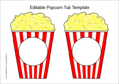 popcorn container template editable popcorn tub templates sb11152 sparklebox