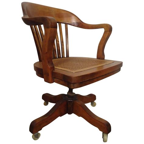 Restored Vintage Swivel Desk Chair By Page For Sale At 1stdibs Desk Swivel Chairs