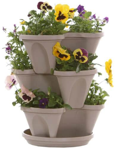Stacking Pots Planters by Nancy Janes 12 Inch Stacking Planters Insteading