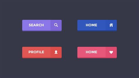 Button Flat buttons archives freebies gallery