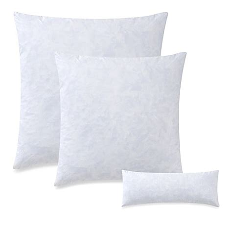 white throw pillows for bed feather throw pillow insert in white bed bath beyond