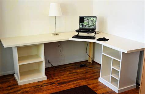 modular desk finally finished ana white woodworking