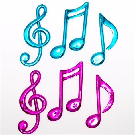Music Themed Party Decorations Small Neon Plastic Music Notes