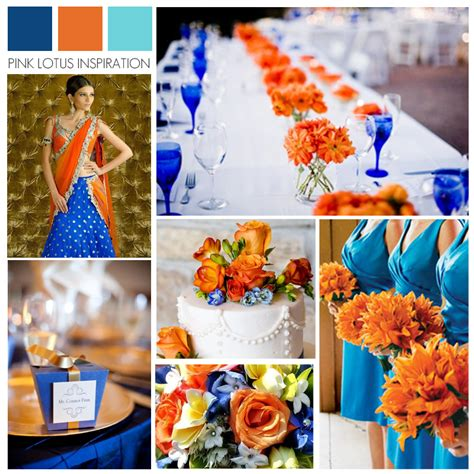 color board inspiration royal blue orange and sky blue