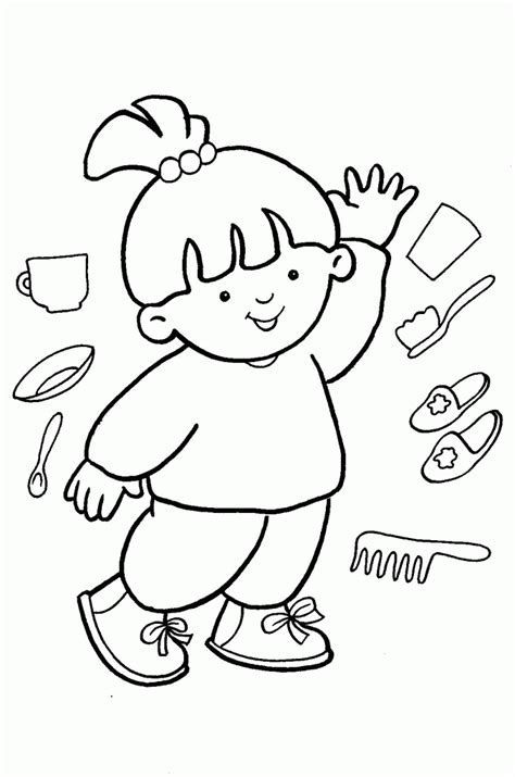 Body Parts For Kids Coloring Pages Coloring Home Coloring Pages Parts