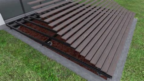 great deck over concrete patio how to lay deck flooring on