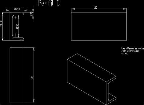 profile  dwg block  autocad designs cad