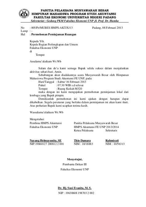 Contoh Surat Izin Menggunakan Fasilitas - Surat 35