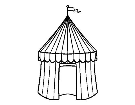 circus tent coloring pages