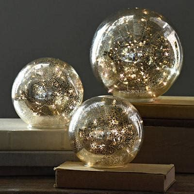 mercury glass globes with lights exclusive set of 3 pre lit mercury glass globes