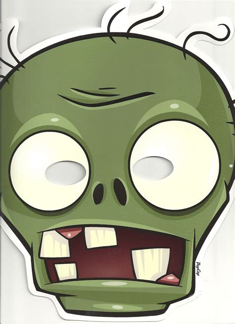 printable zombie mask zombies and toys plants vs zombies the products behind