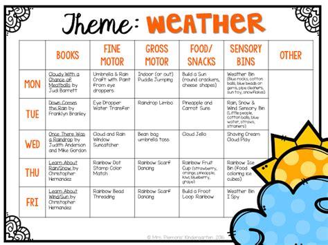 kindergarten themes weather tot school weather kindergarten classroom tot school