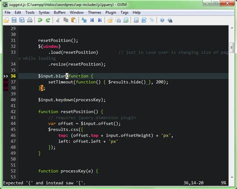 coding hints syntax check for php and javascript inside vim