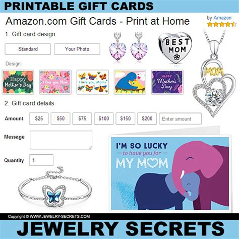 printable gift certificates for mother s day printable mother s day gift cards jewelry secrets