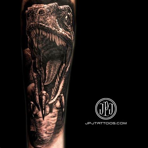 velociraptor tattoo velociraptor by jose perez jr tattoonow