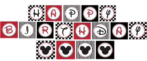 printable mickey mouse birthday banner 4 best images of mickey mouse birthday printables mickey