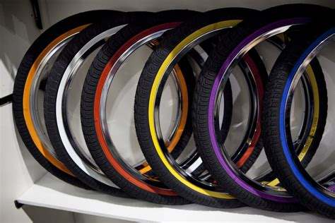 colored tires racing vertical composition stock photo 31781047